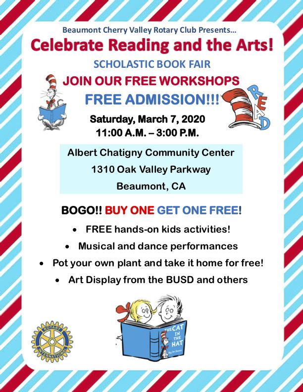 Flyer with Text and Pictures of Cat in the Hat