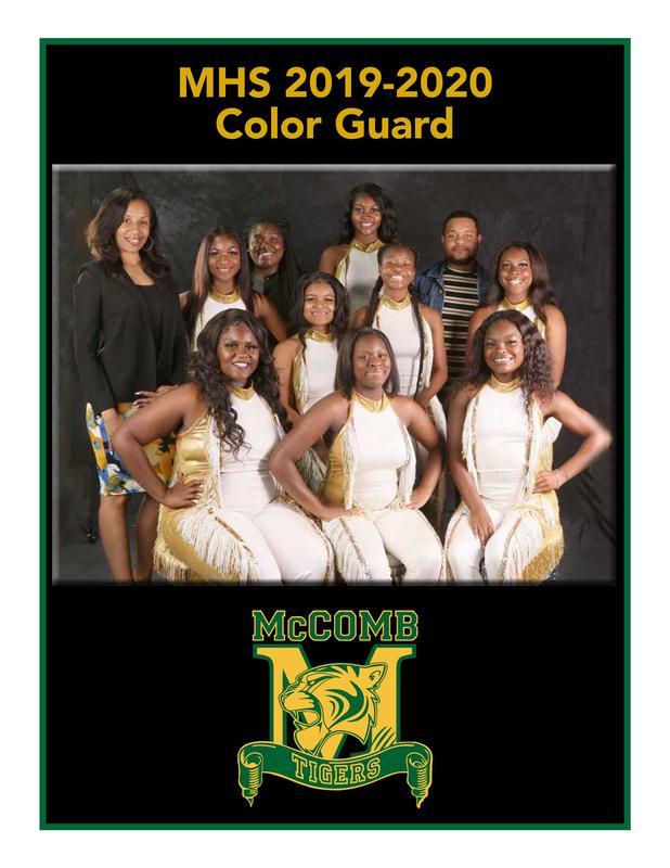 McComb High School Color Guard Team 2019-2020