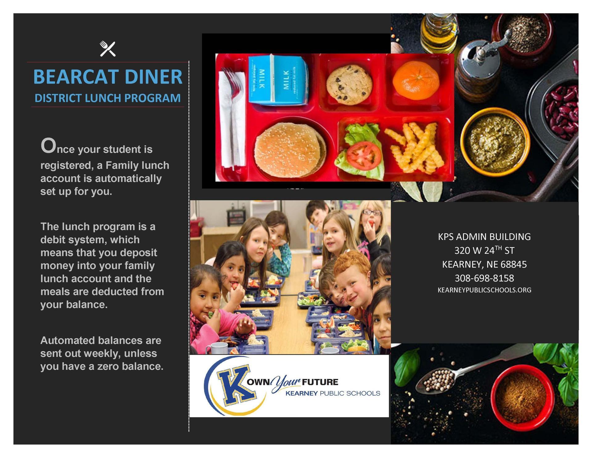 Diner info flyer