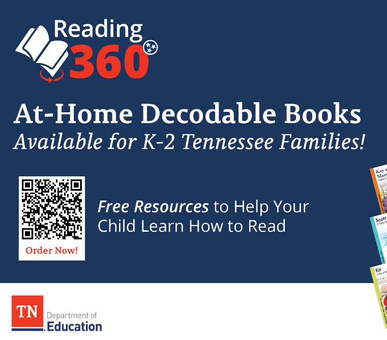 Reading 360 - At-Home Decodable Books Available for K-2 Tennessee Familes! Free Resources to Help Your Child Learn How to Read