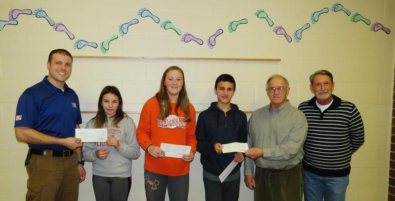 TKMS students make donations to three veterans groups.
