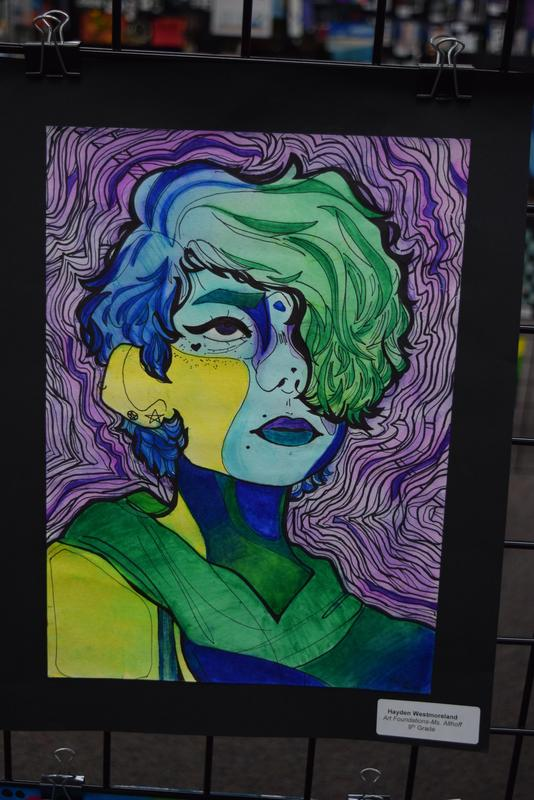 Student art painting - multicolored