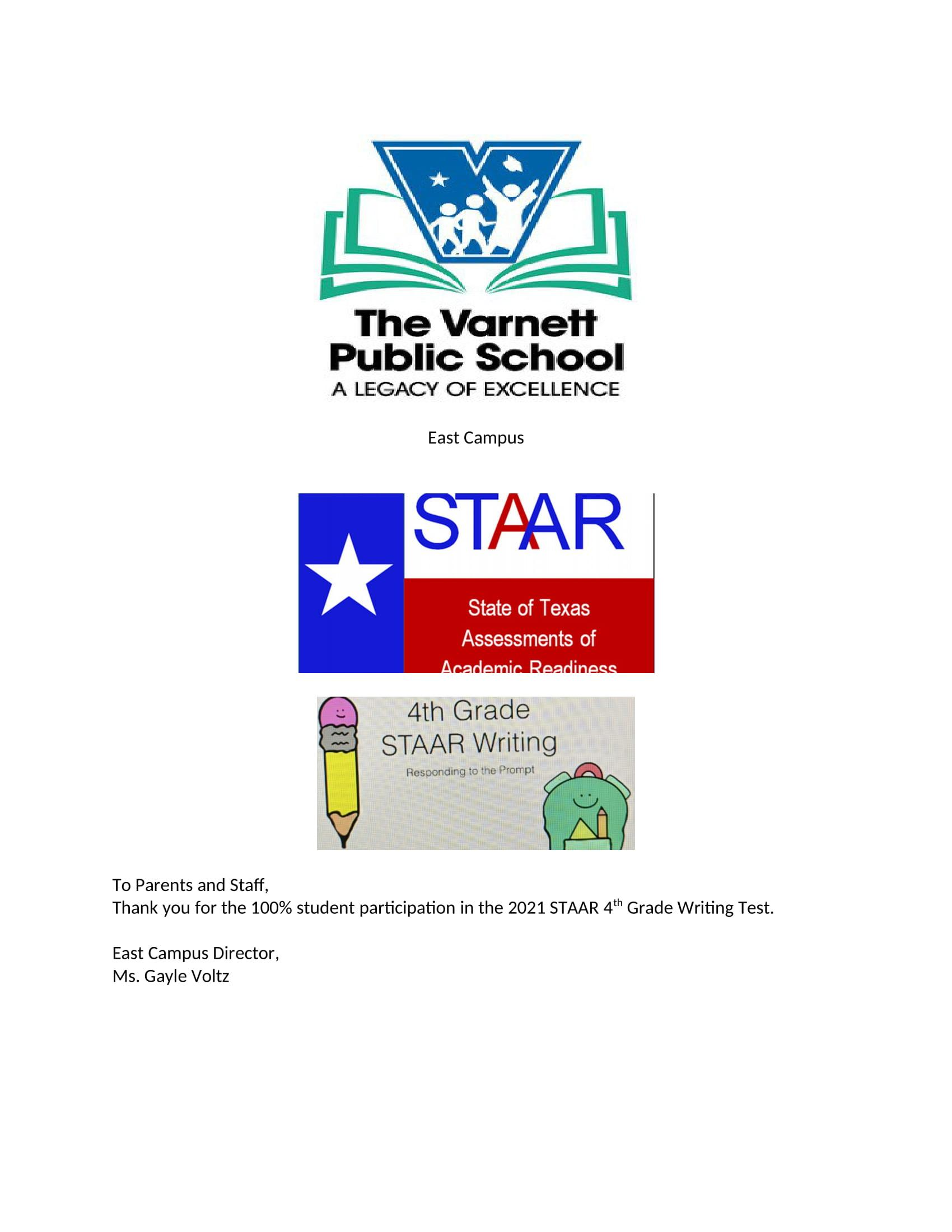 4th Grade STAAR test
