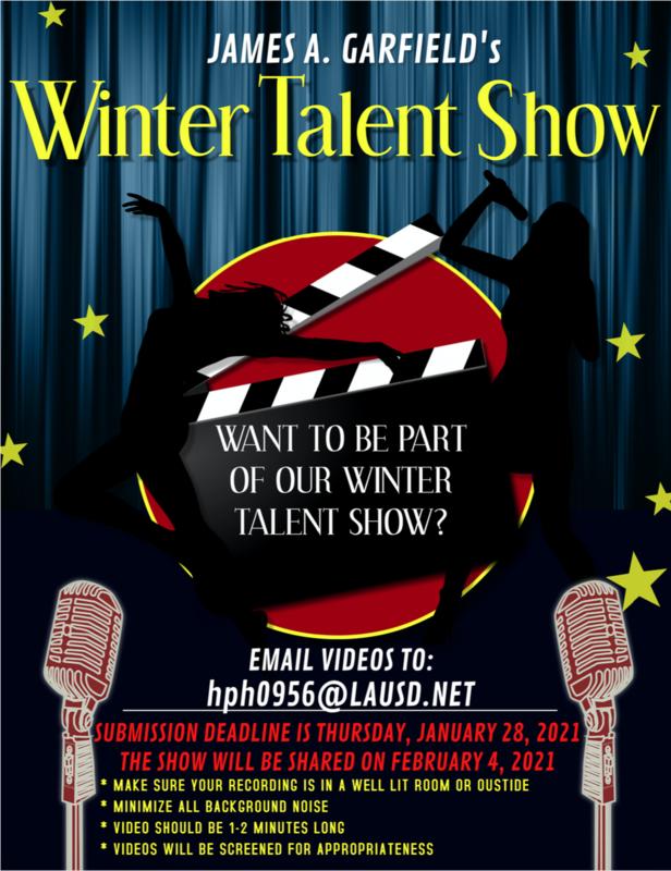 James A. Garfield's Winter Talent Show