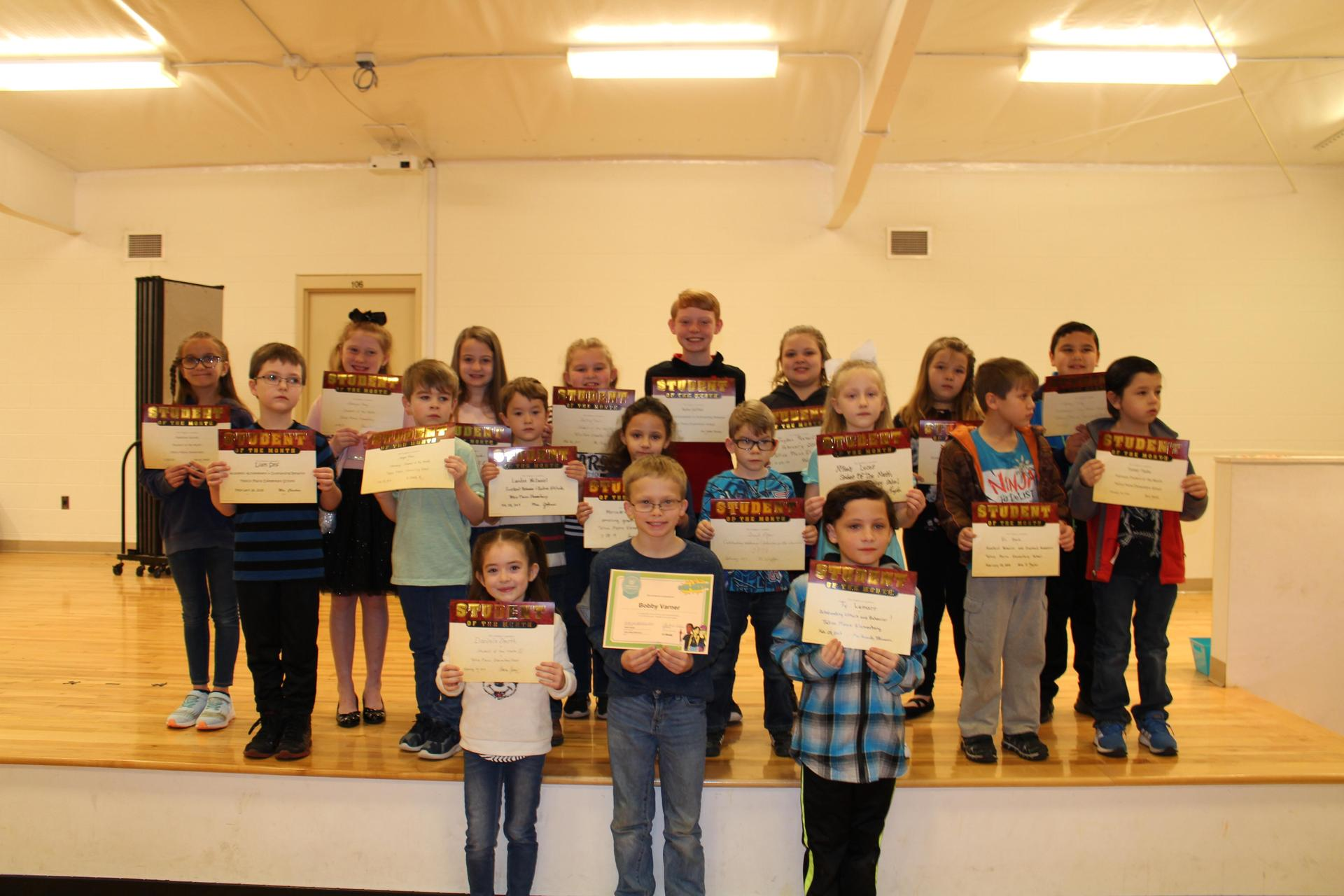 February 2019 Student of the Month picture