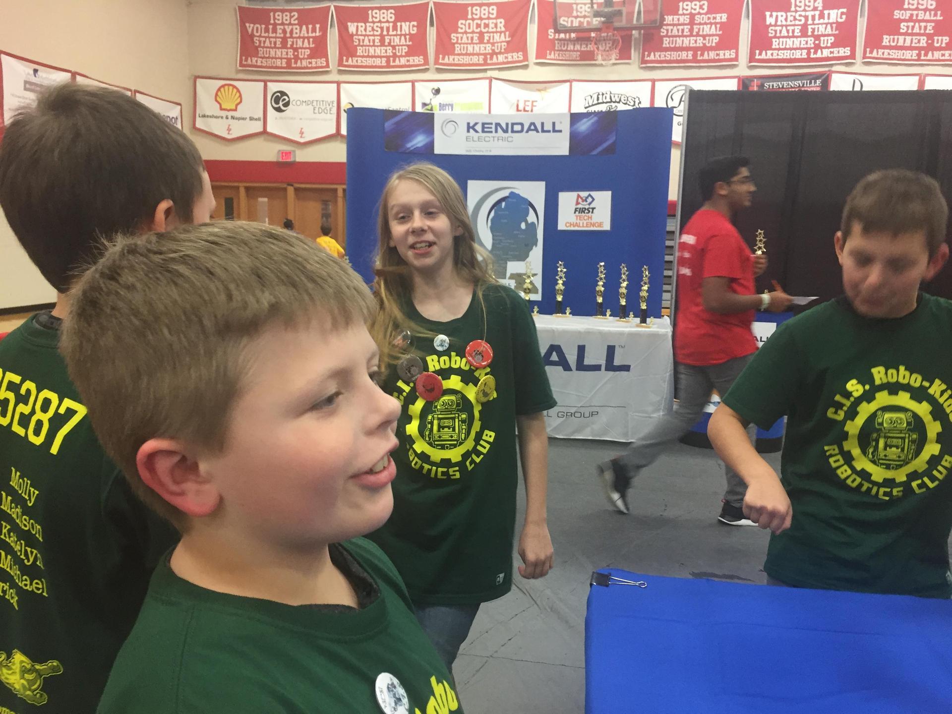 children in team t-shirts