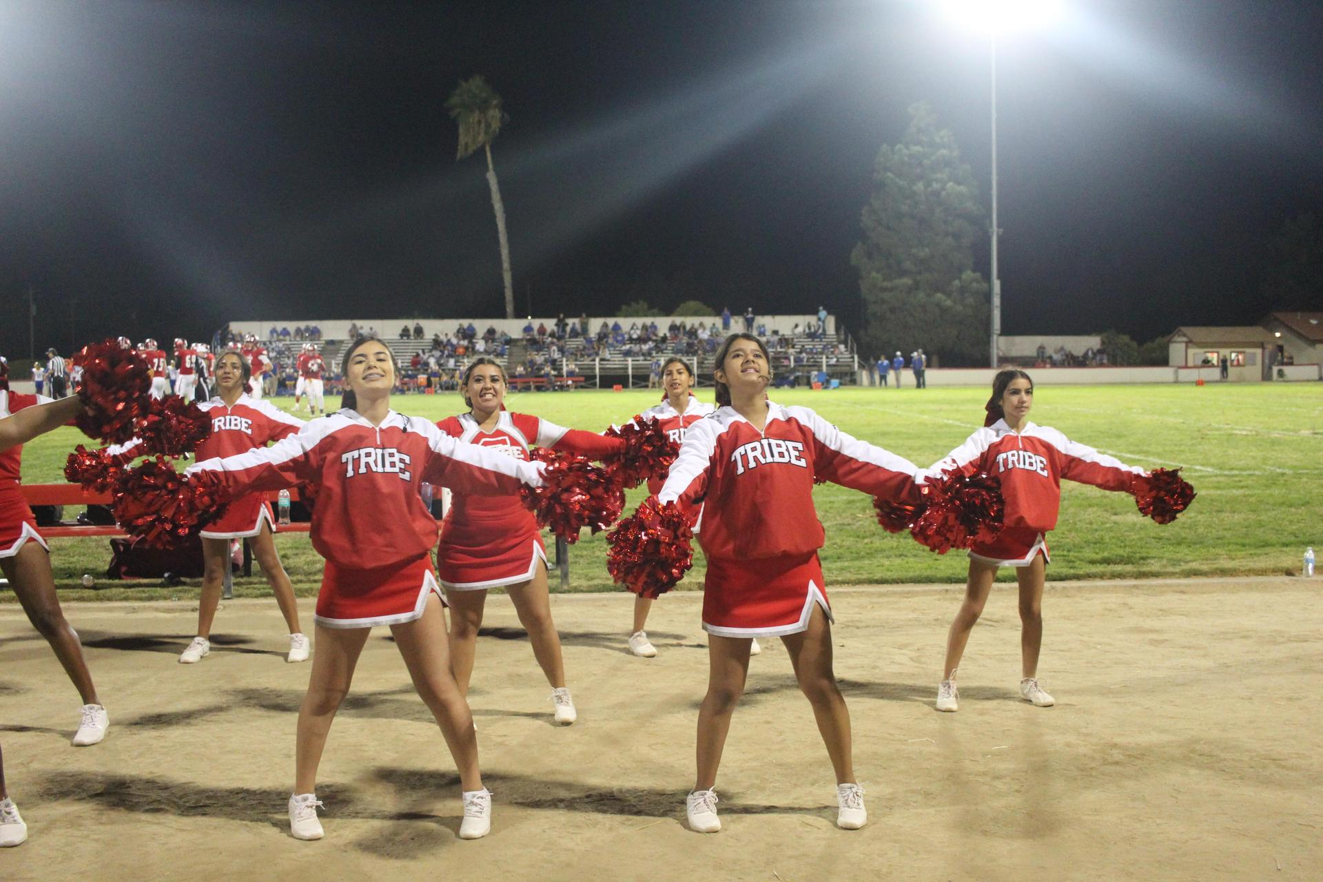 cheerleaders at the exeter game