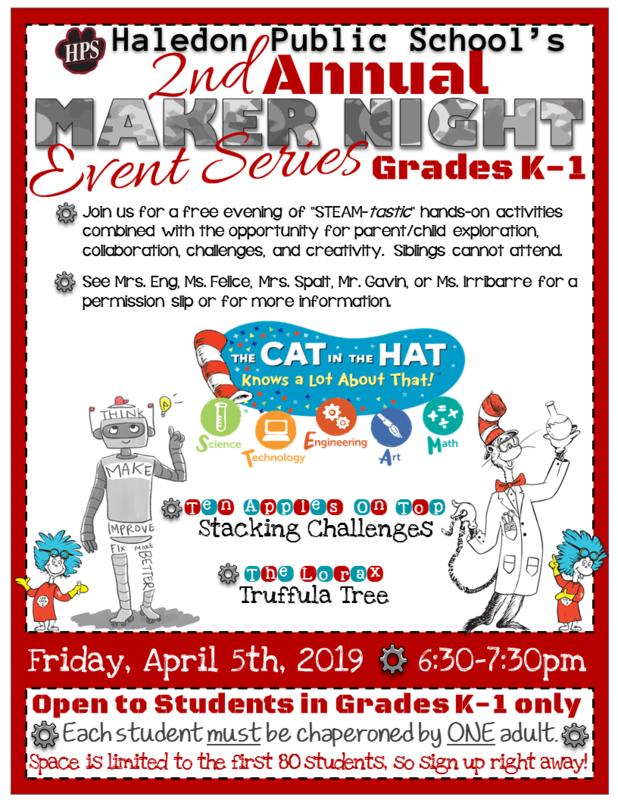 Maker Night Flyer- 4-5-2019- Grades K-1.png