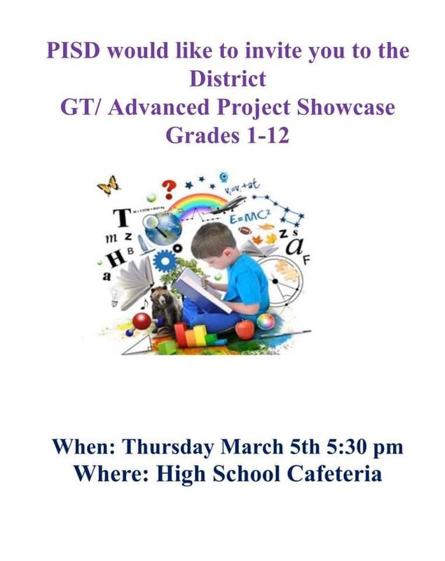 GT/ Advanced Project Showcase Grades 1-12 Thumbnail Image