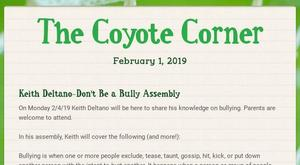 Screenshot of our 2/1 issue of the Coyote Corner
