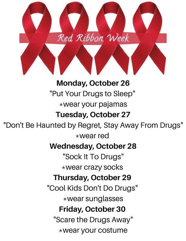 Red Ribbon Week dress days
