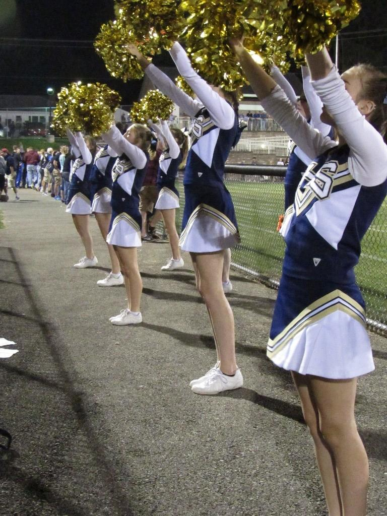 Cheerleaders at  Football Game