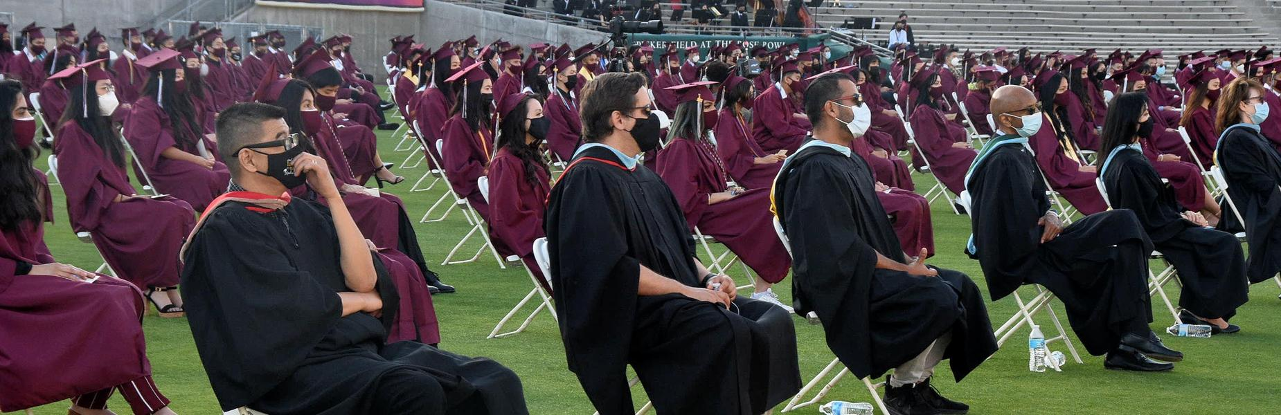 2021 MKHS Graduation held at the Rose Bowl
