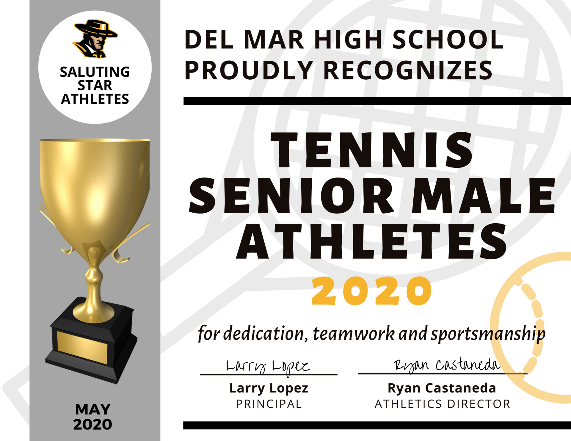 image of tennis team recognition