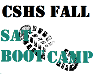 SAT Boot Camp Flyer
