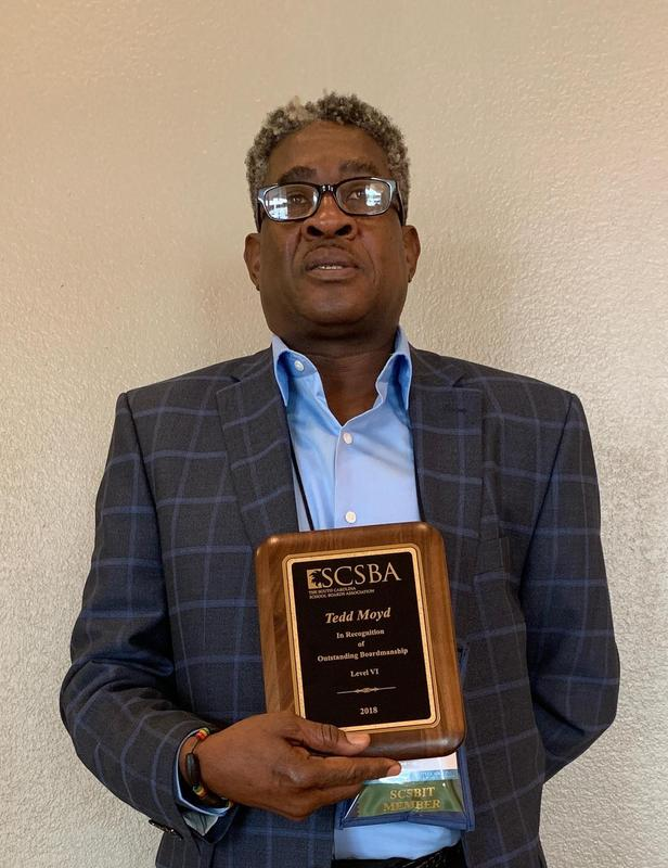BOE Mr. Tedd Moyd honored at the Annual South Carolina School Board Association Conference