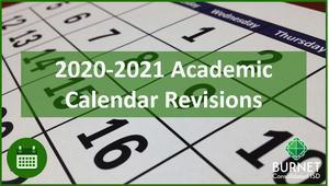 Board Approves 2020-2021 School Year Calendar Revisions Thumbnail Image