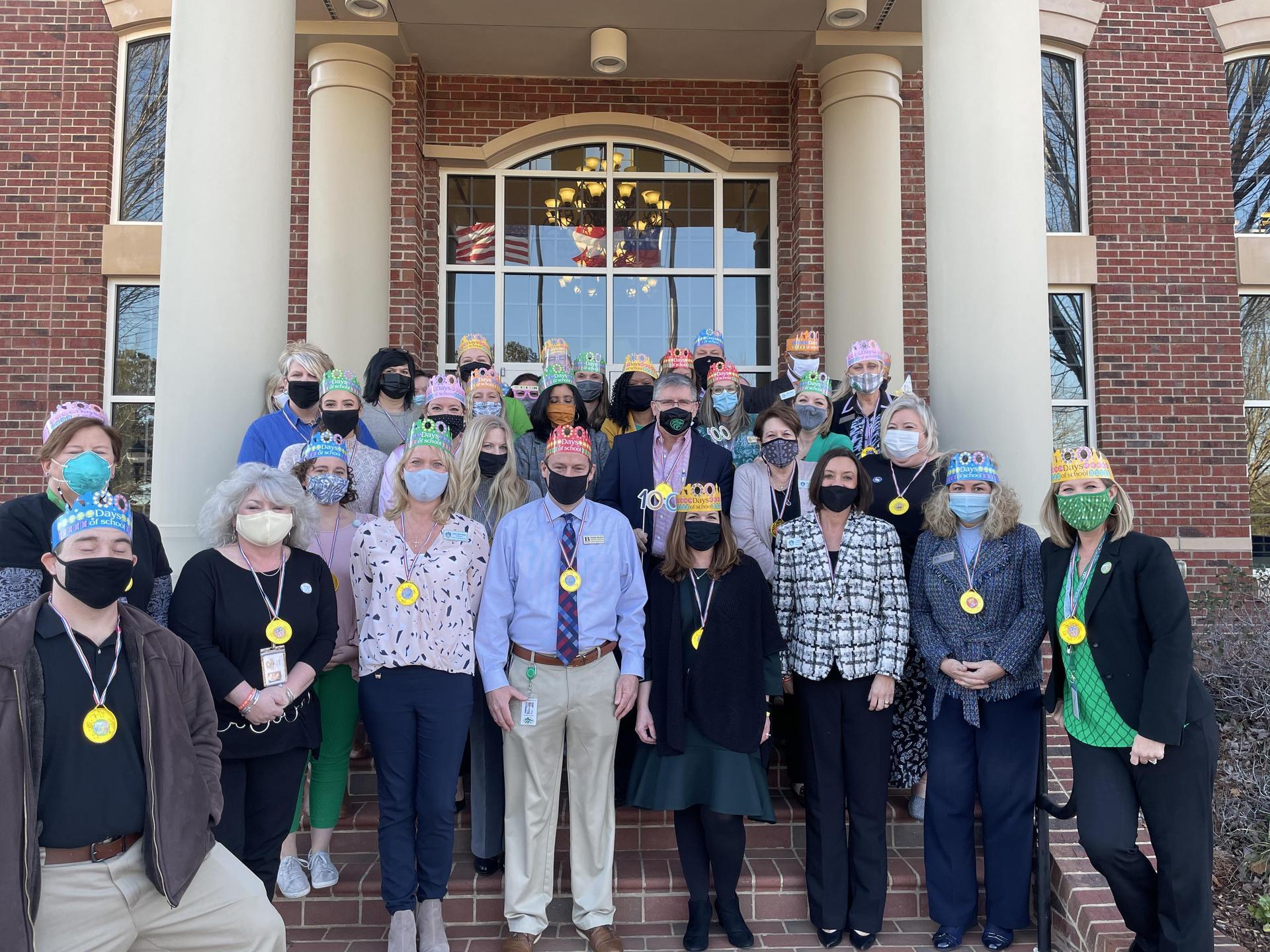 Administrators celebrate 100 days at School