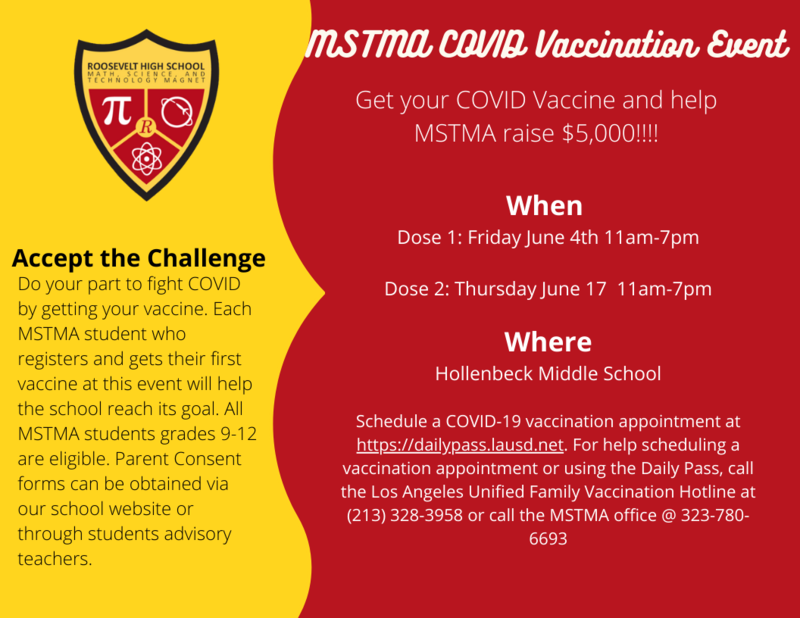 MSTMA COVID 19 Vaccination Event ROUND 2 Thursday June 17 11am-7pm/Evento de vacunación MSTMA COVID 19 RONDA 2 Jueves 17 de junio de 11 a. M. A 7 p. M. Y jueves 17 de junio Featured Photo