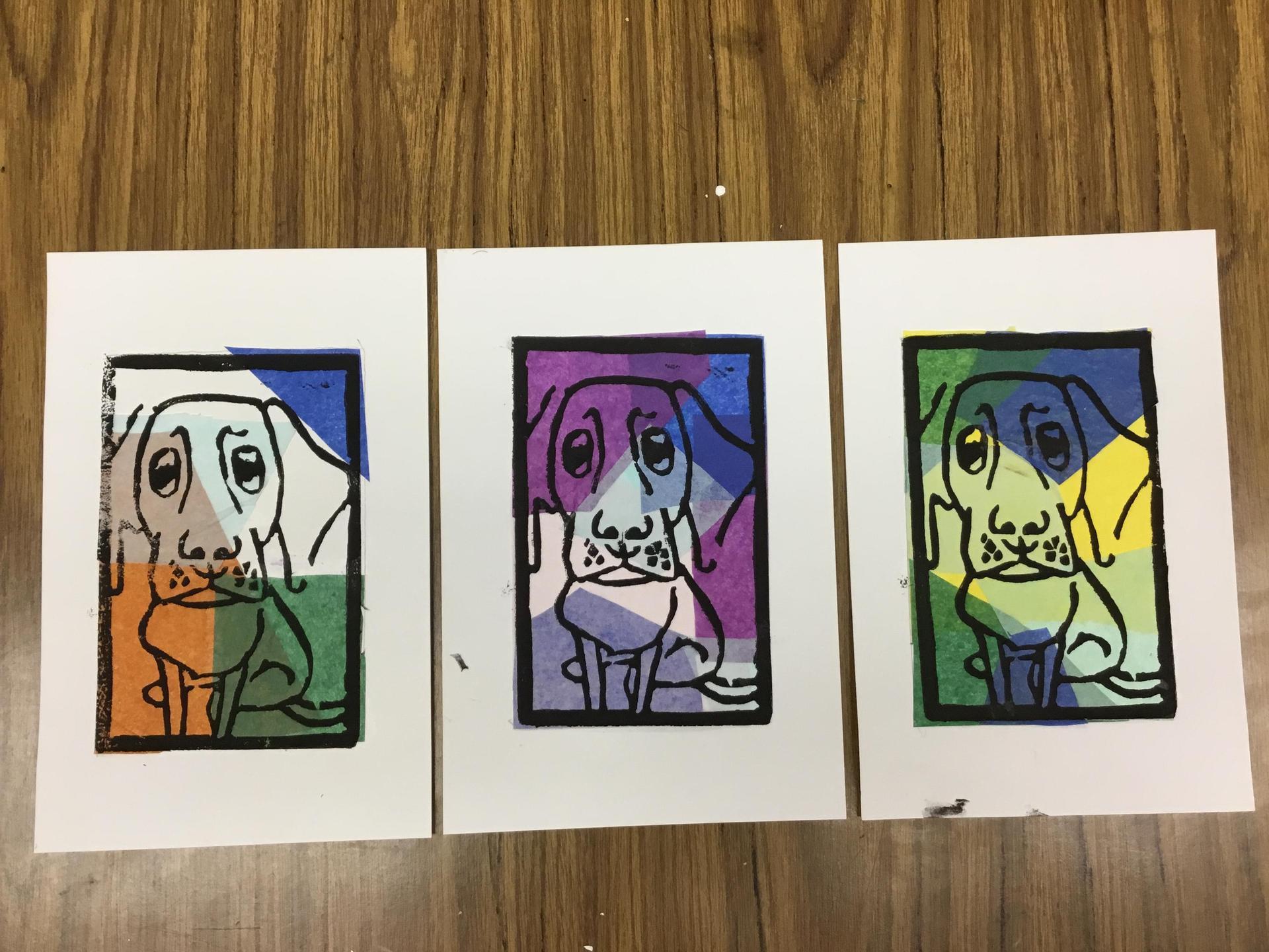 Set of three prints
