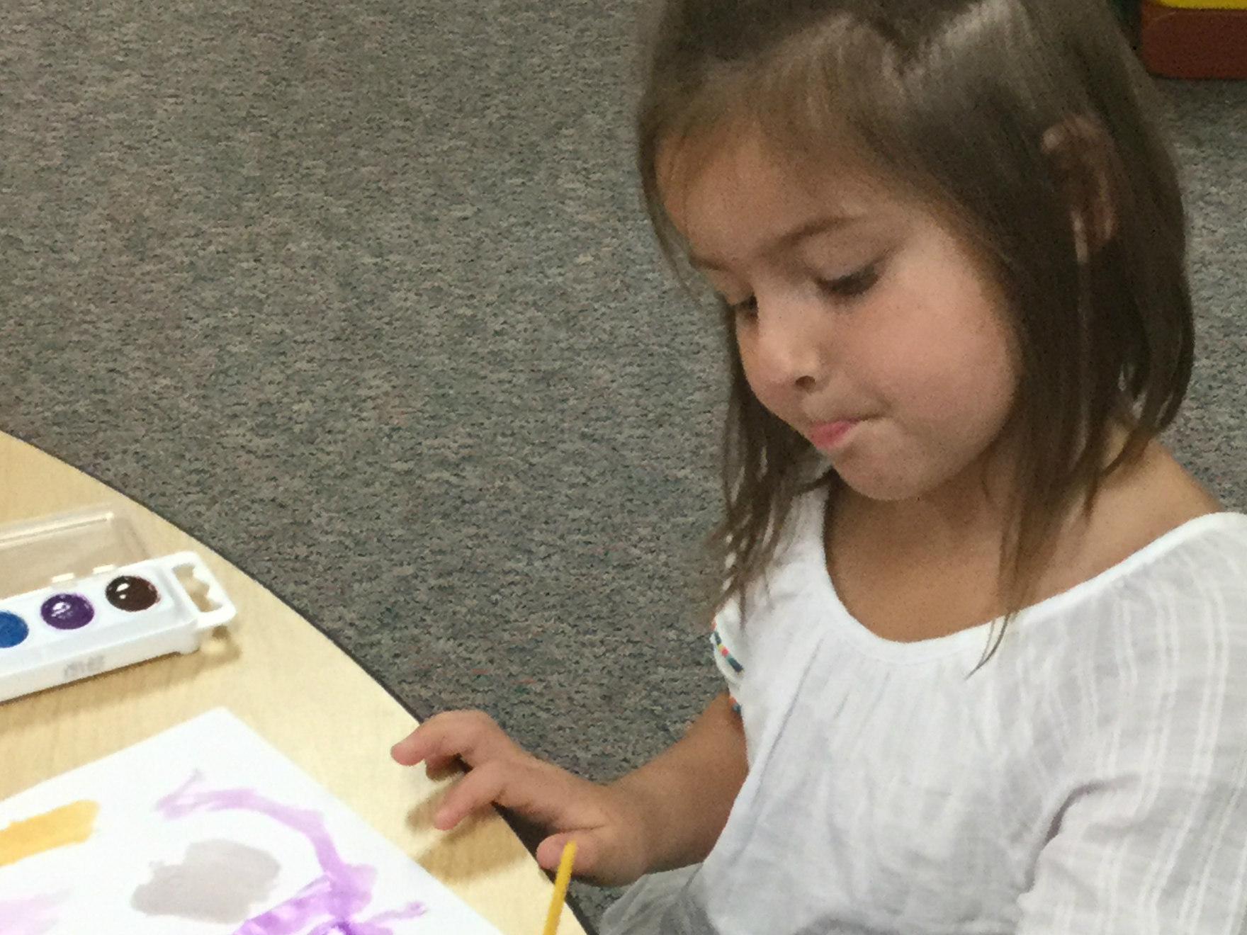 F J Watercolor Girl