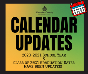 Calendar updates graphic