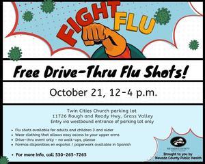 Information Flyer Drive Thru Flu Shots