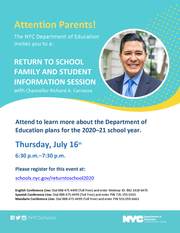 NYCDOE Return to School Information Session