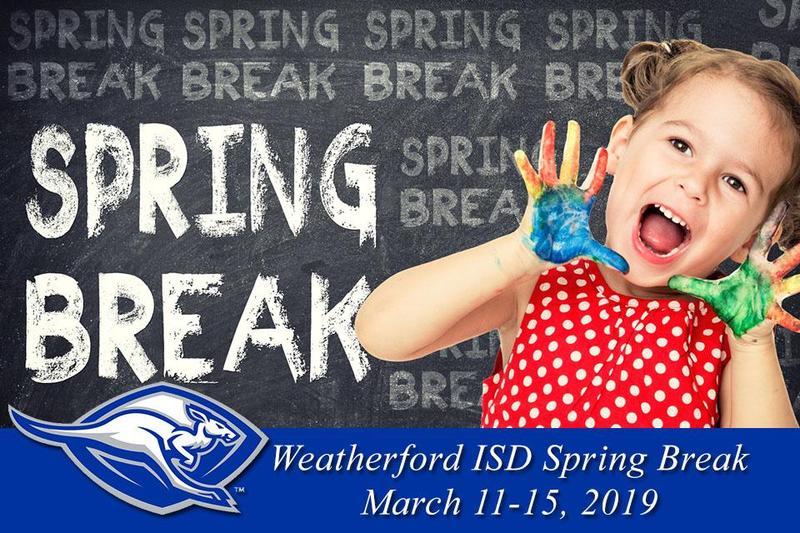 Spring Break Announcement