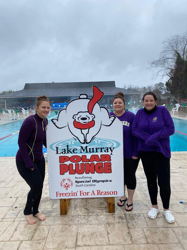 Lexington Three Staff Members Participate in Polar Plunge