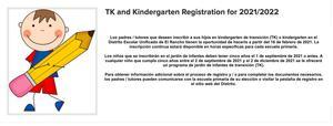 Spanish TK/Kinder registration