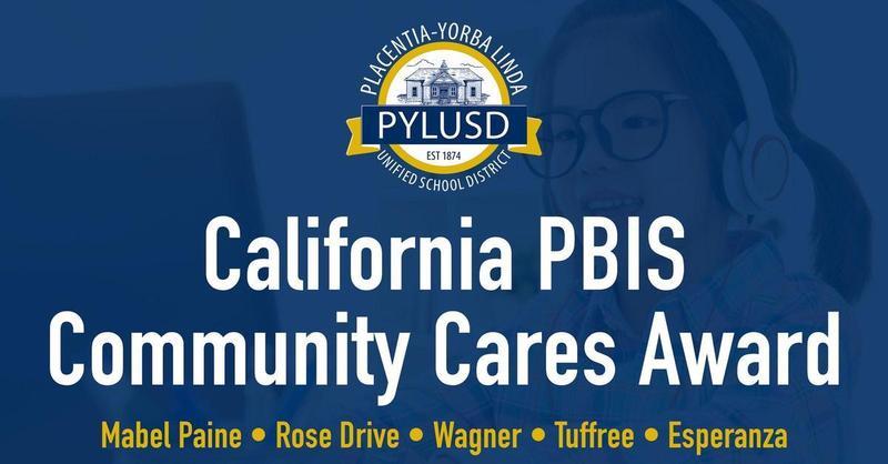 Rose Dr has received the California PBIS Community Cares Award