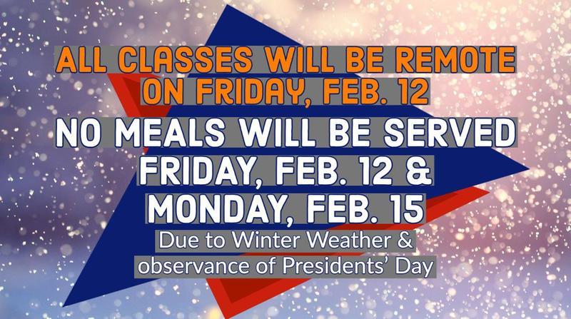 No Class/Meals