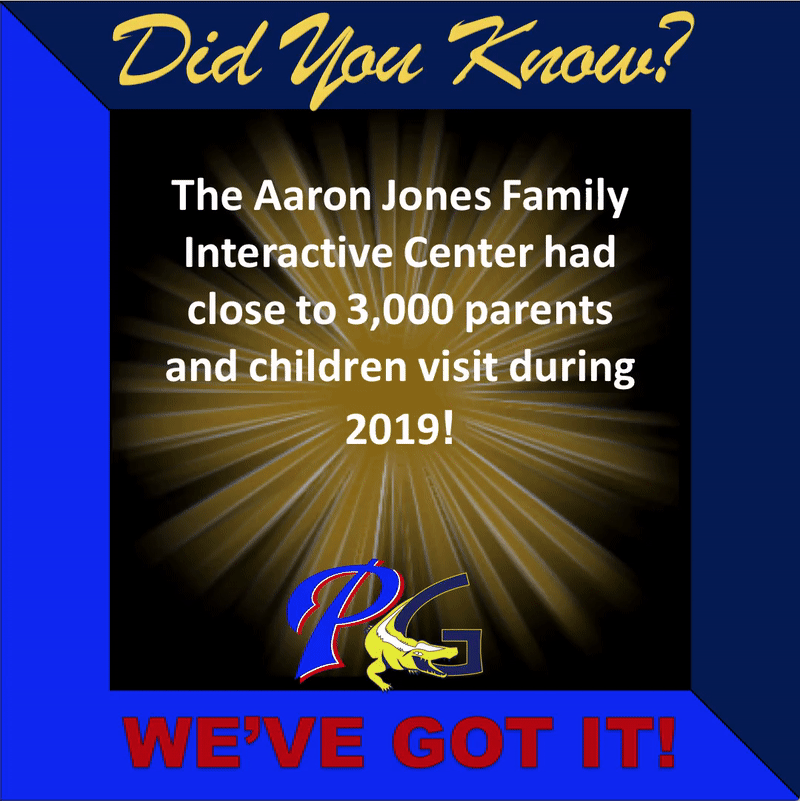 Did you know that the Aaron Jones Family interactive center has had over 3000 visitors during 2019