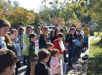 Students at Pro-Life Rosary