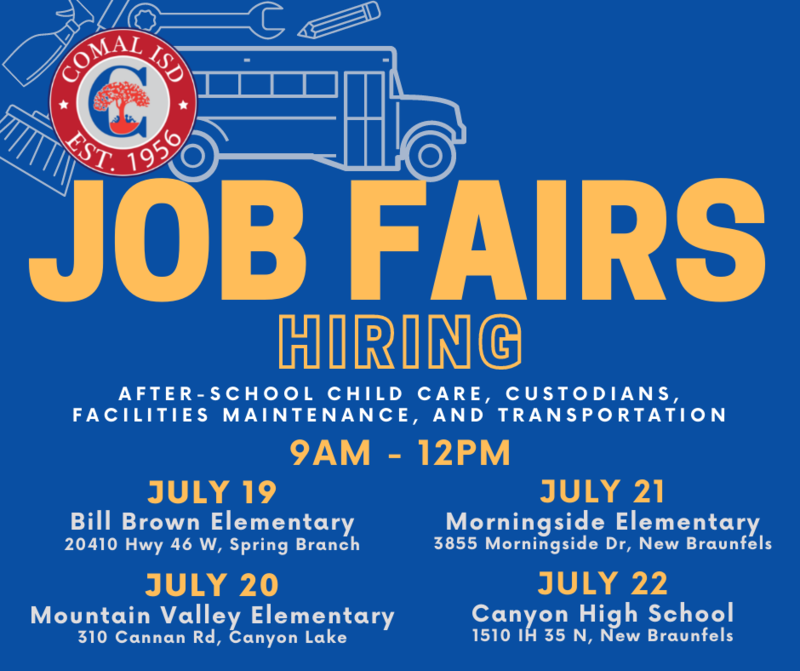Job Fairs for July
