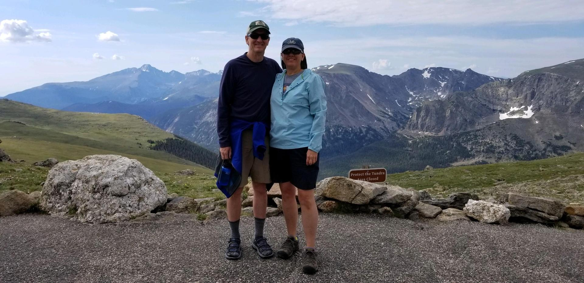 Mr. and Mrs. Jackson in Rocky Mountain National Park
