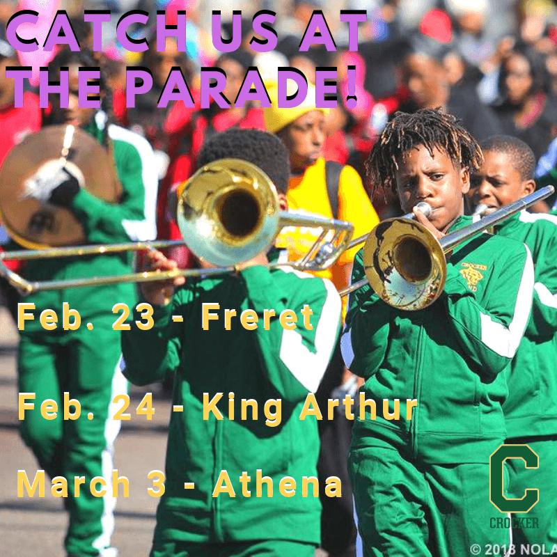 Crocker Parade Schedule