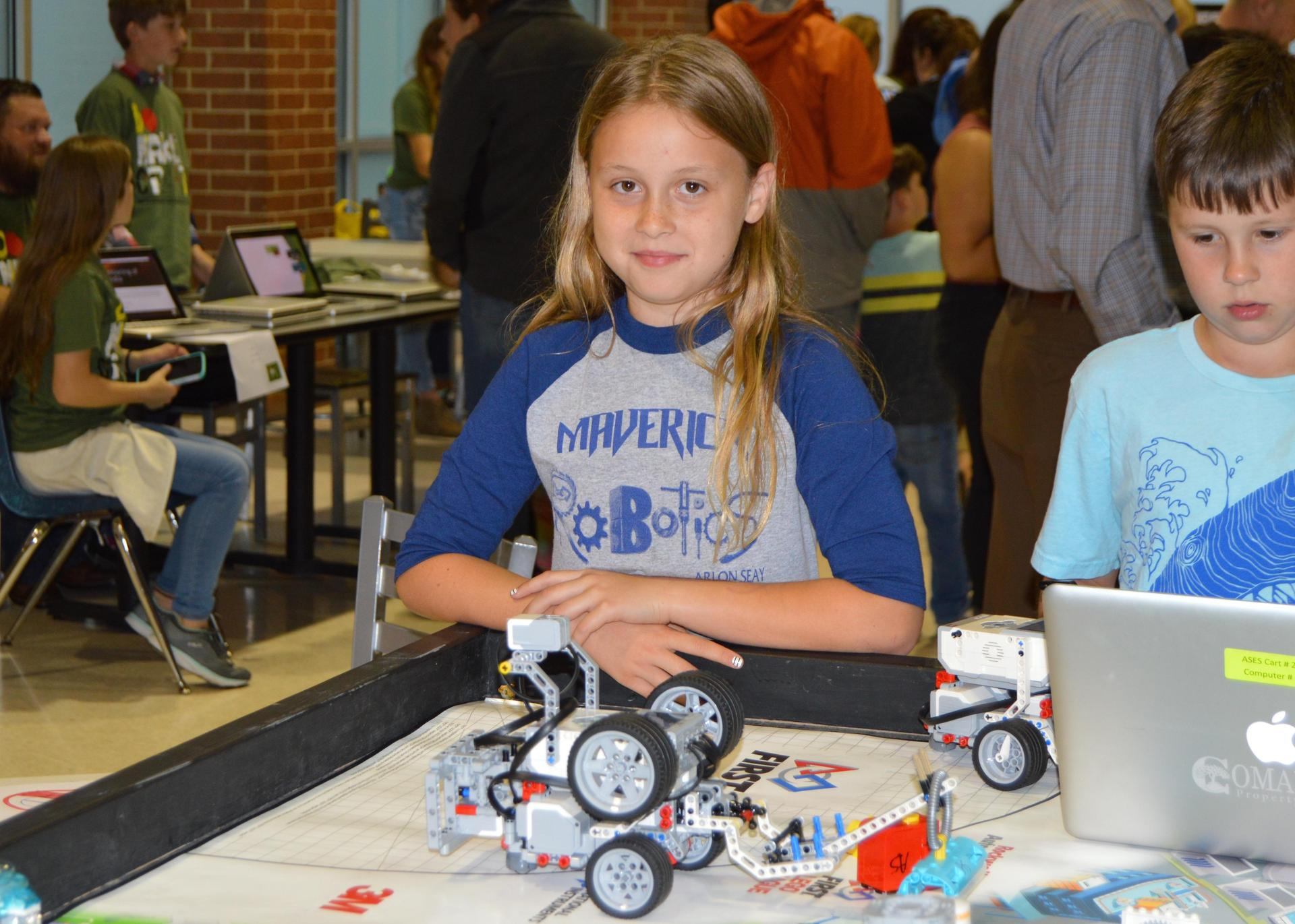 girl with robot