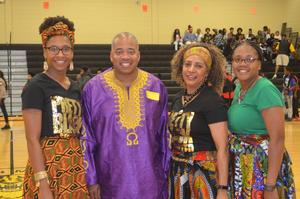 Left to right:  Mrs. Brittany Bell,  Commissioner Dr. Demarcus Marshall, Dr. Elena Ponder, and Mrs. Brooks
