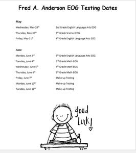 EOG dates