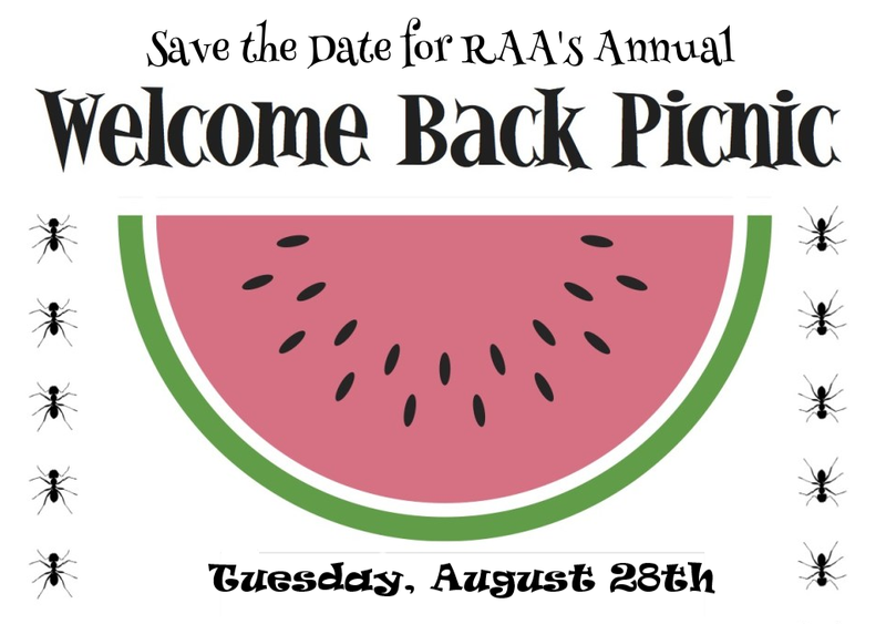 Welcome Back Picnic for RAA Families Tuesday Evening, August 28th Thumbnail Image