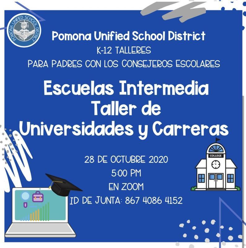 Escuela Intermedia Taller de Universidades y Carreras