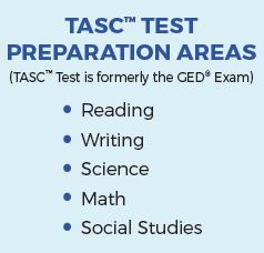 Prep areas for TASC Test