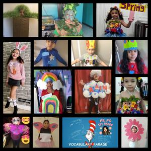Students wearing costumes collage