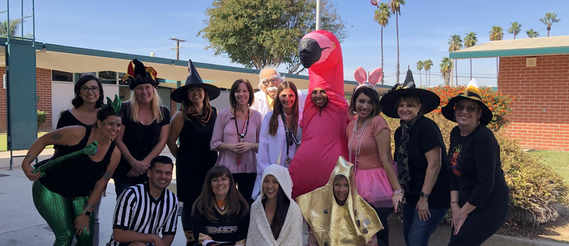 Halloween with Willmore Staff