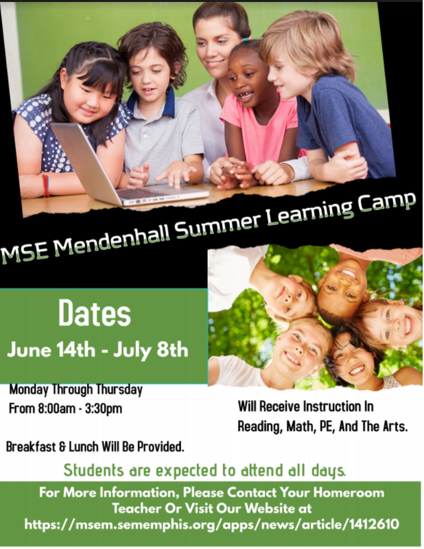 MSE Mendenhall Summer Learning Camp