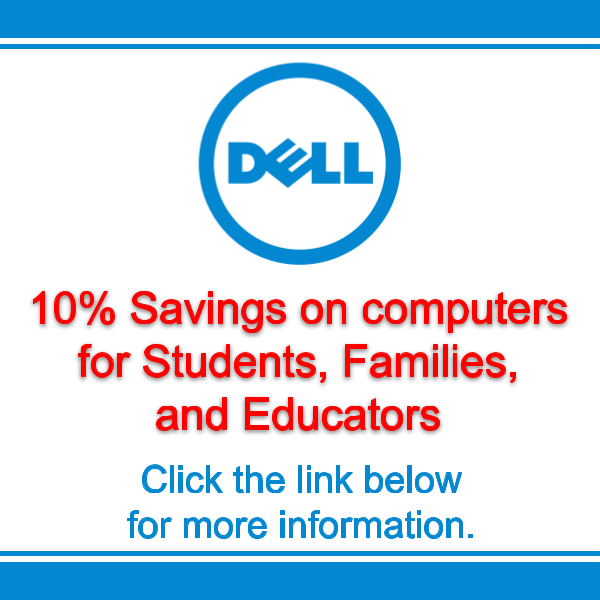 Dell discount for parents, faculty, and students Featured Photo