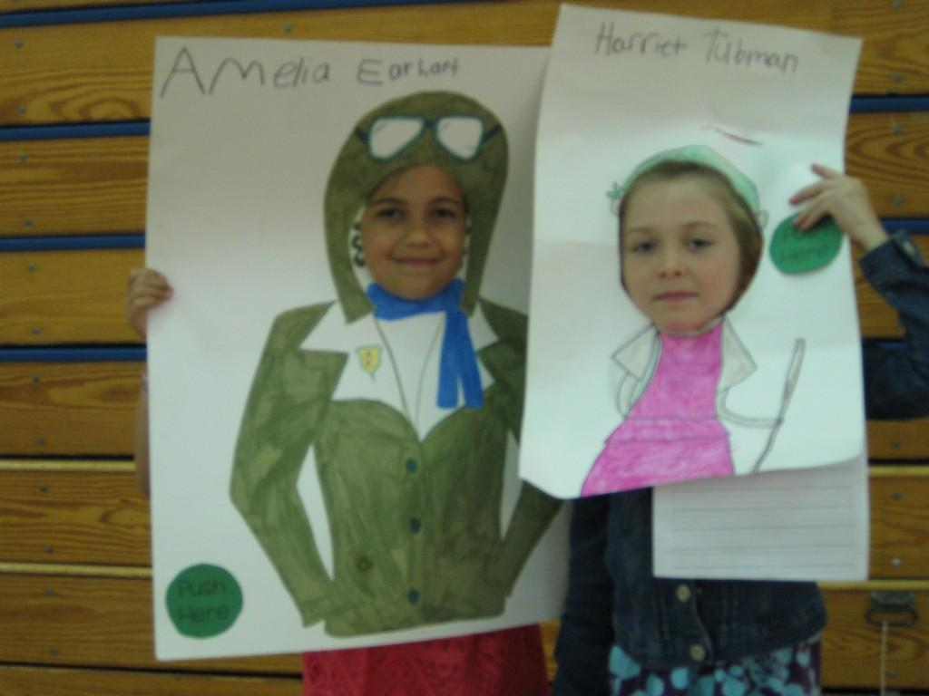 Wax Museum-Amelia Earhart and Harriet Tubman