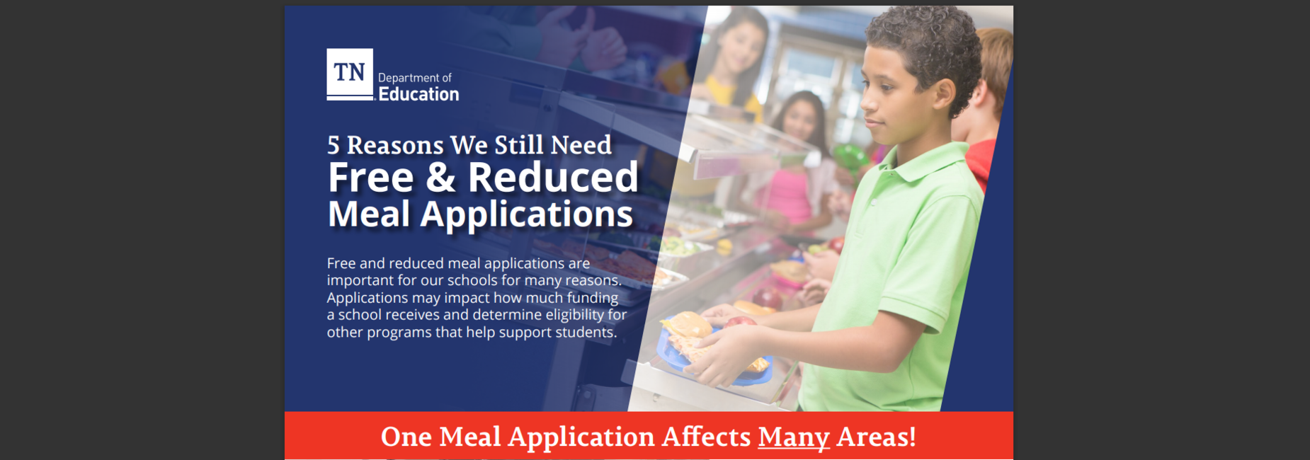 5 Reasons we still need Free & Reduced Meal applications